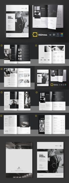 Modern Business Proposal Beauty Brochure Layout Templates For Graphic Design Inspiration – fashion editorial layout Page Layout Design, Magazine Layout Design, Book Design Layout, Graphic Design Brochure, Brochure Layout, Layout Template, Report Template, Identity Branding, Branding Design