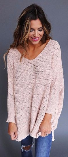 A loose knit long-sleeve because fall is finally has come, right?