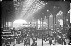 Liverpool Street Station was the London terminus of the Great Eastern Railway Co. This photograph captures the scale of the building and the sense of bustle.