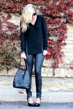 black on black. Fall fashion 2013