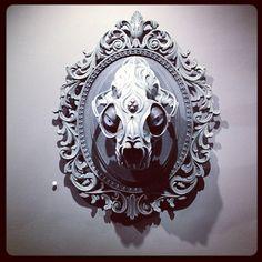 Skull #sculpture by Chris Haas @lastritesgallery by PinkyTurtles, via Flickr