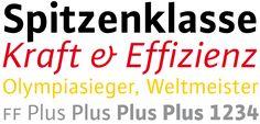 Corporate Familie für kurze Zeit zum Sonderpreis: Die gesamte FF Plus Pro-Schriftfamilie (4 Strichstärken, 8 Schnitte) für nur 75,– €.