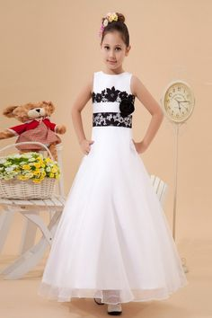 5201ba52f5 Satin and Tulle Jewel Neckline Ankle-Length Ball Gown Flower Girl Dress