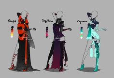 Outfit design - Zodiacs - 4 - closed by LotusLumino on DeviantArt