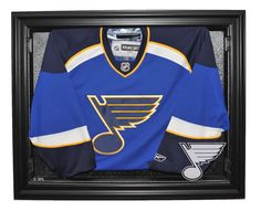 St. Louis Blues E-Z Removable Face 3/4 View Jersey Display, Black from ManCaveGiant.com