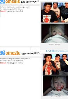 Omegle, full of surprises. any nil Fran and tin hath Ilka . Fran gar: hay sexy, give us a smile it Really Funny, Funny Cute, The Funny, Hilarious, Funny Sexy, Funny Animal Memes, Funny Memes, My Demons, Funny Tumblr Posts
