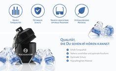 Senner MusicPro Gehörschutz Ohrstöpsel mit Alubehälter. Ideal für Musik, Konzerte, Disco und Festivals, clear/transparent: Amazon.de: Musikinstrumente