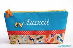 Kosmetiktasche-Kulturtasche  ♥Strandtag♥ maritim  von FLINTHOLM   auf DaWanda.com