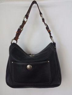 Coach Chelsea Pebbled Black Leather Turn lock Hobo Bag #10131 #Coach #ShoulderBag