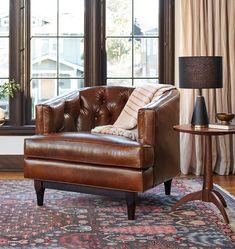 Monrowe Leather Chair | Rejuvenation
