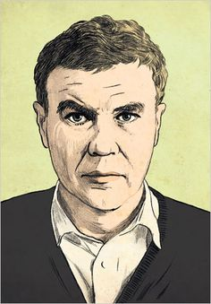 Raymond Carver. Illustration by Ruth Gwily, based on a photograph by Bob Adelman/Corbis.