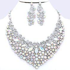 Royal Aurora Borealis AB Crystal Rhinestone Pave Curlicue Swirl ...