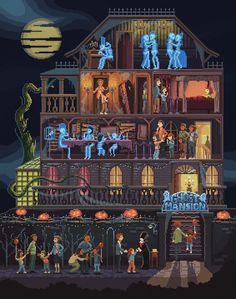 Pixel Art illustrations by Octavi Navarro. Halloween Horror, Halloween Art, Vintage Halloween, Happy Halloween, Pixel Art Games, Halloween Pictures, Game Design, Game Art, Fantasy Art
