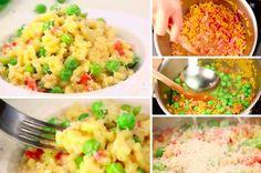 Le risotto de pâtes au jambon et aux petits pois 2.8 (56%) 5 votes Si vous avez aimé notre recette du risotto aux cèpeset notre risotto aux fèves, cette recette devrait vous plaire. Réalisé par Marmiton, ce risotto de pâtes revisite le genre et est très gourmand. Découvrez sans plus attendre cette recette très simple...