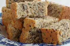 Healthy Banana Bread (Low fat/low sugar recipe made with agave and applesauce) (Low Carb Kuchen Apfelmus) Low Sugar Recipes, No Sugar Foods, Banana Bread Recipes, Diabetic Recipes, Low Sugar Banana Bread, Healthy Banana Bread, Applesauce Banana Bread, Sugar Bread, Agaves