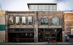 Kolstrand Building (Graham Baba) - adaptive reuse of a 1910 marine supply building Good to see the process of changing. Seattle Architecture, Architecture Design, Twitter Jobs, Dutch Bike, Warehouse Conversion, Old Commercials, Adaptive Reuse, Building Structure, Built Environment