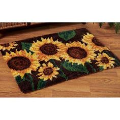 Stately Sunflowers Latch Hook Kit - Herrschners