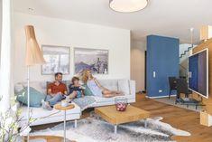 Wohnzimmer Einrichtung - Stadtvilla WeberHaus Günzburg - Hausbaudirekt.de