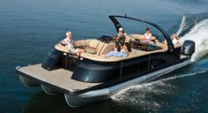 New 2016 Luxury Pontoon Boats. Best in Class Styling & Performance Tri-Toon Boats with I/O Engines for the Pontoon Boat Brand! 2575 QCWA I/O Sport Arch Luxury Pontoon Boats, Best Pontoon Boats, Pontoon Boating, Boat Brands, Boat Parade, Down The River, Love Boat, Boat Accessories, Favorite Cartoon Character