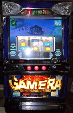 Pachislo GAMERA VIDEO SLOT MACHINE/200 TOKENS/200 Pg Manual 500 SPINS IN U.S.