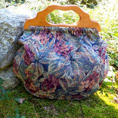 Tapestry Knitting Bag Craft Bag Carry All by AprilNineDesigns