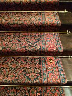 Rhinelander Mansion, Home of Ralph Lauren NYC Men's Flagship Store - Stairs Painted Stairs, Wood Stairs, Basement Stairs, Le Vieux Logis, Staircase Runner, Stair Runners, Stair Rug Runner, Carpet Brands, Beautiful Stairs