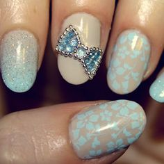 i just ordered a ton of nail art beads and rhinestones. totally doing this bow.
