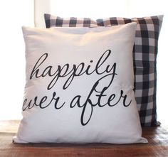 Happy Ending Pillow by CCurate on Etsy