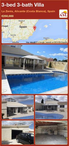 3-bed 3-bath Villa in La Zenia, Alicante (Costa Blanca), Spain ►€250,000 #PropertyForSaleInSpain