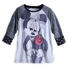 This is actually kinda cute! Minnie Mouse Raglan Tee for Women