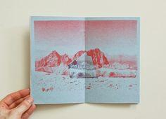 Risograph printed Artist Book by Megan Hopkins