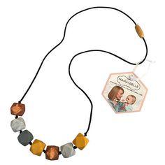 BuyMama + Belle Aurora Quartz Teething Necklace, Mustard Online at johnlewis.com
