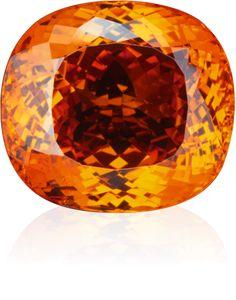 HENN GEMS - Sensationen - Orangefarbener Mandarin-Granat, antiker Schliff, über 70 ct, Fundort Nigeria