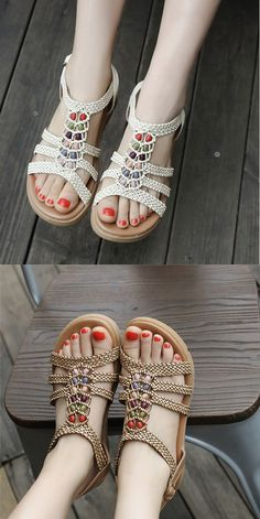 2016 Roma Lady Boots Buckles Flip Flops Thongs Flat Vintage Gladiator Sandal Hot