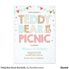 Teddy Bear Picnic Invitations Free Template Wallpapergenk