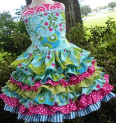 Pretty Bird Fabric Custom Order Nie Nie Set by hottotscoolkids2, $84.00 This is adorable, but I couldn't pay that much for it...
