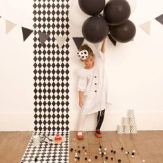 black and white kids party inspiration