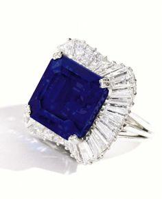 Ceylonese Sapphire & Diamond Ring - Sotheby's