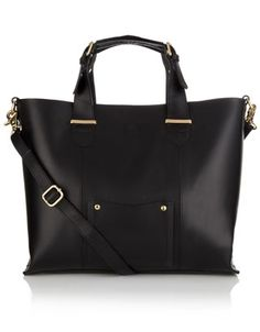 Black shoulder bag.  Brighter colours enjoyed too!
