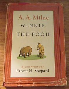 Winnie The Pooh 1961 A A Milne Ernest H Shepard Vintage Hardcover Dustjacket