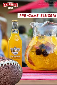 Step up your sangria with Pre-Game Sangria. Just mix Smirnoff ICE Screwdriver and delicious white wine over fresh fruit. Pour into a large pitcher and add fresh fruit. Only a couple steps and then you're #gamedayready! For a non-alcoholic version of our sangria recipe, swap fresh orange juice for Smirnoff Ice Screwdriver and lemon-lime soda for white wine. Sip and enjoy!