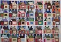 Little Houses Quilt Blocks by Ellen of Little Jewel Quilts