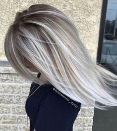 Ideas for hair color dark ash blonde highlights Hair Color Dark, Cool Hair Color, Dark Hair, Gray Color, Dark Blonde, Silver Hair Colors, Brown Hair, Red Colour, Blonde Brunette