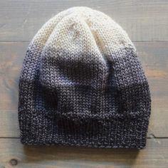 Ombré Knit Hat Pattern