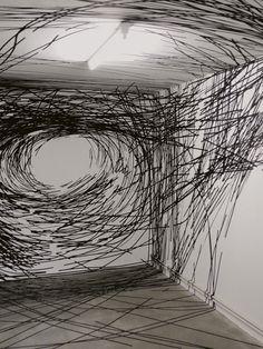 "Monika Grzymala Spins ""3-D"" Drawings From 27,000 Feet Of Tape"