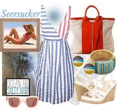 """Seersucker"" by jcmp ❤ liked on Polyvore"