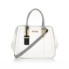 White hidden frame bowler bag £40 #riverisland #RI