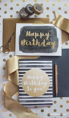 Free Printable: modern happy birthday cards