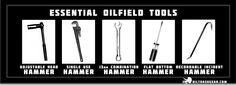 Variety of hammers used in the Oilfield. Oilfield Humor, Oilfield Trash, Oilfield Wife, Combat Medic, Mechanic Humor, Oil Rig, Work Memes, Twisted Humor, Oil And Gas