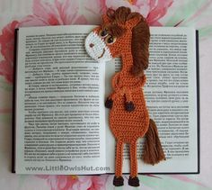 Horse Bookmark Crochet Pattern - change it up a little for a coaster?